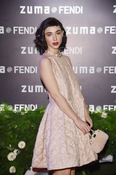 Matilda De Angelis at the Palazzo Fendi opening party in Rome.