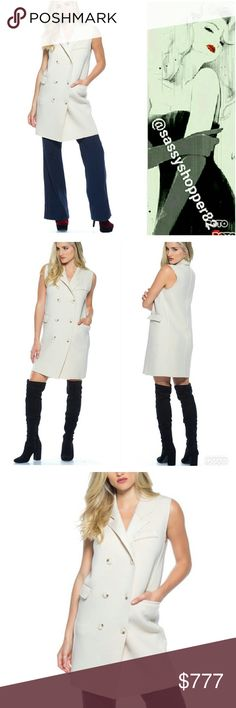 JUST ARRIVEDOh so Chic Vest/Dress Brand new Boutique item  Grab this oh so chic and classy double breasted vest.wear over a top with jeans/pants/leggings or wear as a button up dress with boots. This piece is on trend, perfect for the season and in my opinion timeless. Features fabulous material and pockets  Office chic street style classy  pocket comfortable Sassy Boutique Jackets & Coats Vests