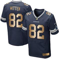 Nike Dallas Cowboys Men's #82 Jason Witten Elite Navy/Gold Home NFL Jersey
