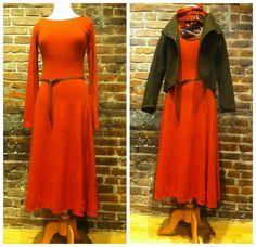 Boat Neck Dress, High Neck Dress, Hemp, Winter Fashion, Dresses With Sleeves, Fall, Long Sleeve, Women, Style