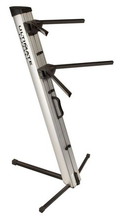 Ultimate AX-48Pro Silver Two-Tier Keyboard Stand