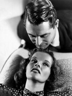 Cary Grant and Katharine Hepburn in a publicity still for Bringing Up Baby, 1938