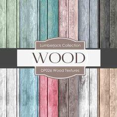 Digital Papers Wood Textures DP026
