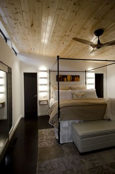 Modern Shed Dwelling In Dallas Tx Bedroom Interior
