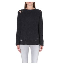 DIESEL Distressed alpaca-blend jumper