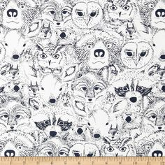 Designed by Sarah Watson for Art Gallery, cotton print is perfect for quilting, apparel and home decor accents. Art Gallery Fabric features 200 thread count of finely woven cotton. Colors include black and white.