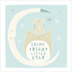Shine Bright Little Star Greeting Card 1-58C от FreyaArt на Etsy