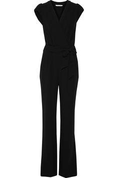DIANE VON FURSTENBERG Purdy Wrap-Effect Cady Jumpsuit. #dianevonfurstenberg #cloth #jumpsuit