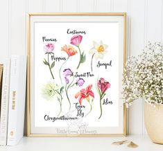 Wildflower print Floral Nursery print wall by LittleEmmasFlowers
