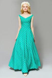Длинное хлопковое платье
