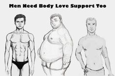 Body love support for men too, including non-white men!