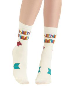 I've Tread Them All Socks. Too cute/cool!