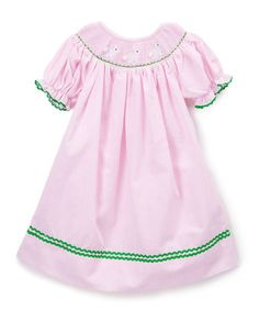 Love this Pink Bunny Smocked Bishop Dress - Infant, Toddler & Girls on #zulily! #zulilyfinds