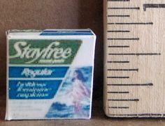 Stay Free Sanitary Napkins | Mary's Dollhouse Miniatures