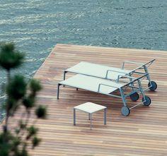 Lettino mod. Park Life di Kettal. www.grilloepiana.it