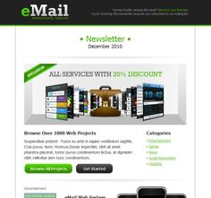39 Beautiful Email Newsletter Templates