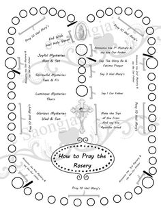 childrens rosary coloring pages | How to Pray the Holy Rosary Poster | Catholic Girl ...
