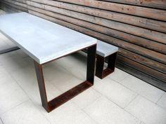Clean desk by KNECHT manufaktur #concrete #stylepark