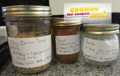 How to make Homemade Taco Seasoning, Ranch Dressing and Dry Onion Soup Mix - EASY & CHEAP!