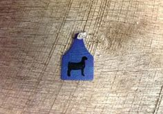 Blue ear tag pendant with blue sparkles and black goat silhouette. Comes with rhinestone pinch bail. Repin to be entered to win one of four $50 gift certificates during our Five Year Anniversary Celebration in July 2014.