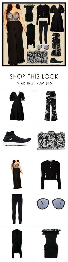 """Black Friday Special"" by cate-jennifer ❤ liked on Polyvore featuring Alexander McQueen, Valentino, NIKE, KOTUR, City Chic, N.Peal, CYCLE, Quay, Rick Owens and Christopher Kane"