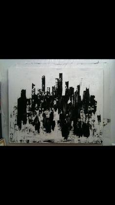 I love painting skylines