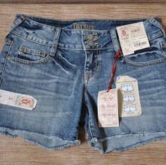 Decree Denim Shorts Juniors 1 XS Stretch Wear 3 Ways New