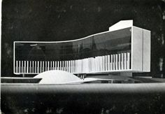 French Communist Party, Oscar Niemeyer, Paris, 1965.