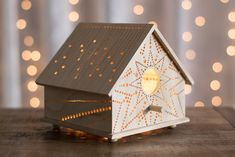 Intricate Wooden Lamps Offer a Beautiful Illuminated Guide Through Dark Rooms - My Modern Met