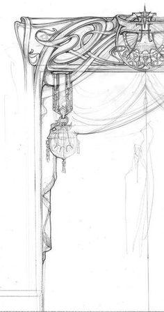 Art Nouveau Drawing Style Super Ideas What's Art ? Design Art Nouveau, Motif Art Deco, Architecture Art Nouveau, Architecture Drawings, Jugendstil Design, Art Nouveau Illustration, Art Nouveau Furniture, Oeuvre D'art, Art Inspo