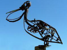 Scrap Metal Art Pelican