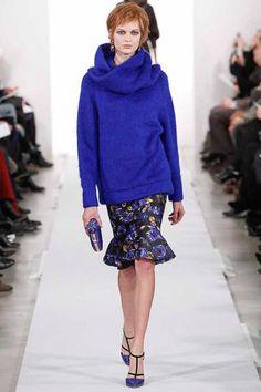Bette-Franke, Oscar-De-La-Renta fall-2014, blue wool
