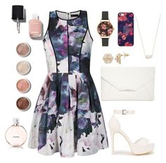 """Untitled #28"" by paigelow on Polyvore featuring Ally Fashion, Nly Shoes, Style & Co., Olivia Burton, Casetify, Kendra Scott, Chanel and Terre Mère"