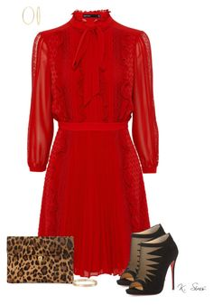 """""""Vintage meets modern"""" by ksims-1 ❤ liked on Polyvore featuring Christian Louboutin, Alexander McQueen, Cartier, Bling Jewelry, modern and vintage"""