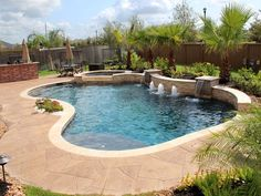 Modern swimming pool design does not constantly mean that a pool was built lately or has all of one of the most high-tech features as well as materials. Modern pool design go back to California in the Small Backyard Pools, Backyard Pool Landscaping, Backyard Pool Designs, Swimming Pools Backyard, Swimming Pool Designs, Landscaping Ideas, Pools Inground, Lap Pools, Indoor Pools