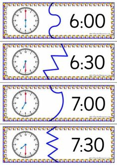 Telling Time Puzzles - 3 Levels Matching australian maths curriculum......