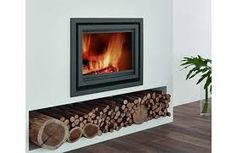 Browse a wide selection of inset stoves, ideal for smaller rooms, from Direct Stoves. Inset log burners & multi-fuel stoves at great prices. Inset Fireplace, Wood Burner Fireplace, Wood Burning Fireplace Inserts, Modern Fireplace, Fireplace Design, Cosy Fireplace, Wood Burning Stove Insert, Modern Wood Burning Stoves, Wood Stoves