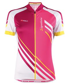 SIGNATURE ladies cycling jersey in fuchsia
