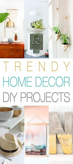 Once again it is that time of the week…the time that we check out the newest in Trendy Home Decor DIY Projects and this week we have a Fabulously Fresh bunch for you! They are all relatively quick and easy which is always a great thing! From and IKEA Rast Hack transformed by wood shims …