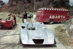 abarth service truck and Fiat Abarth 2000 sport prototipo cuneo 1968