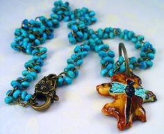 Turquoise Hand Carved Dragonfly Shaterra by RoEnchantedDesigns, $25.00