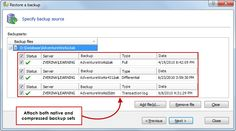 Compressed backup support - Mount both native or natively compressed database backups