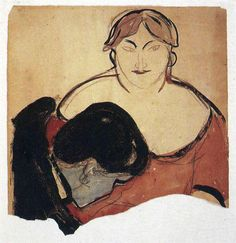 Edward Munch - Young Man and Prostitute, 1893