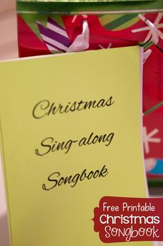 Love to sing carols with your family for the holidays? Download this free PDF Christmas Songbook printable!