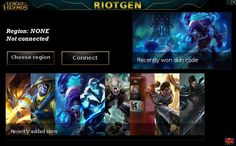 Free league of legends skin codes.