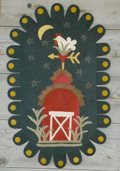 "Wooden Spool Designs ""Farmyard Nights"" Penny Rug Pattern"