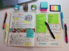 (Bullet Journal Planner) Sempre é bom deixar seu planner bem colorido, para gravar facilmente recados, dicas, entre outras anotações