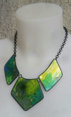 https://flic.kr/p/Ds7TBN | Playing with inks neckpiece