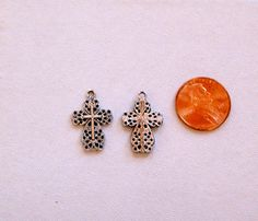 Items similar to Cross Charm Filigree Antique Silver Embossed on Etsy Filigree, Antique Silver, Dyi, Stud Earrings, Charmed, Antiques, Trending Outfits, Unique Jewelry, Handmade Gifts