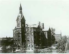 This is Central High School in Cleveland, Ohio. I attended this school around 1852. My sister and future husband also attended this school. It opened in 1846 as the first free, public high school.